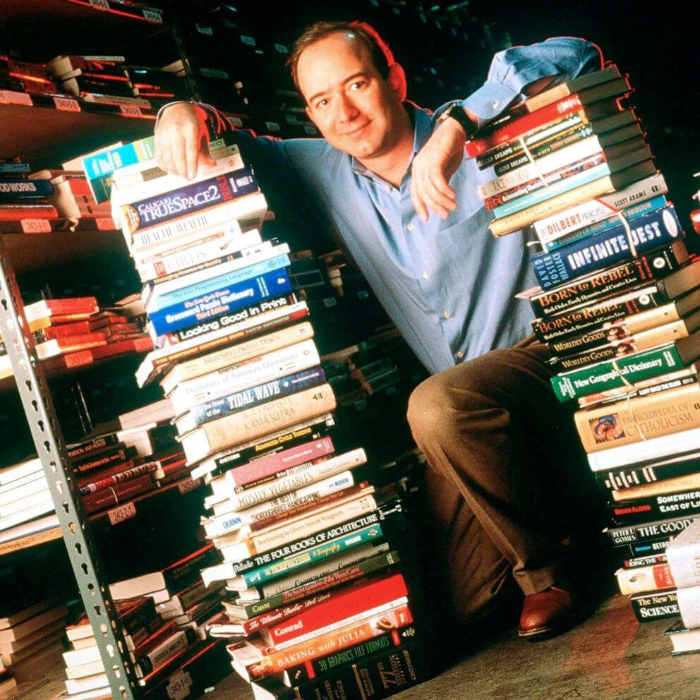 Jeff Bezos, Founder & CEO of Amazon.com is pictured on Jan. 1, 1997, In Seattle.