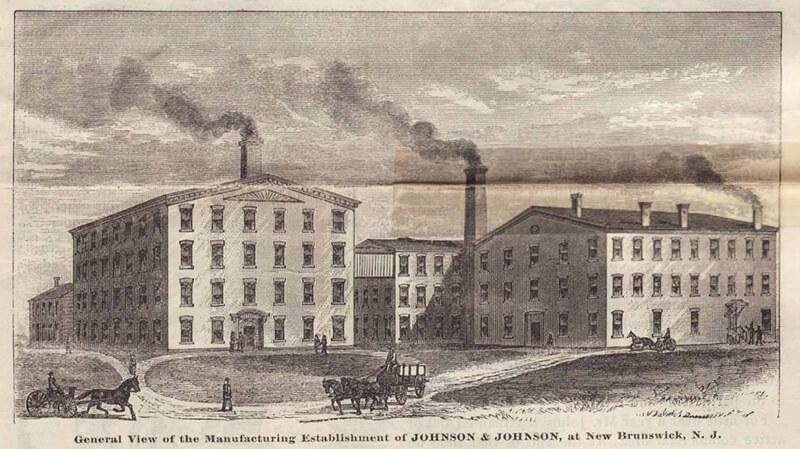 Здания производства компании Johnson & Johnson в 1887 году
