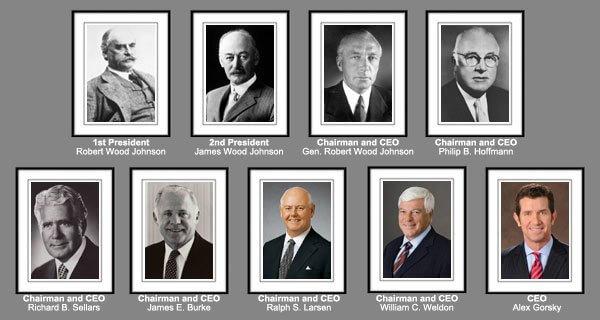 Главы компании Johnson & Johnson