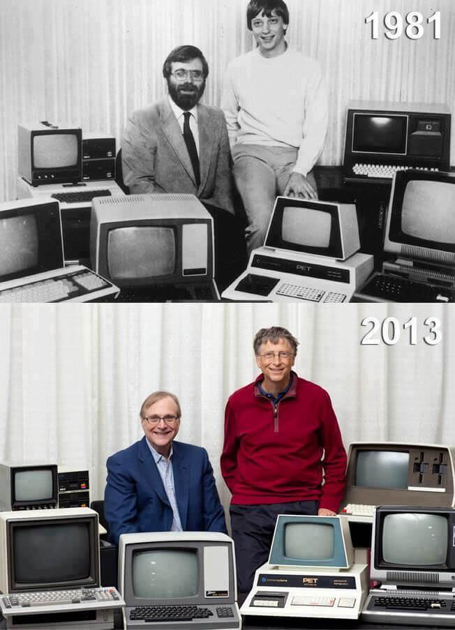 Paul Allen und Bill Gates im Jahr 2013 (Bild Paul Allen)