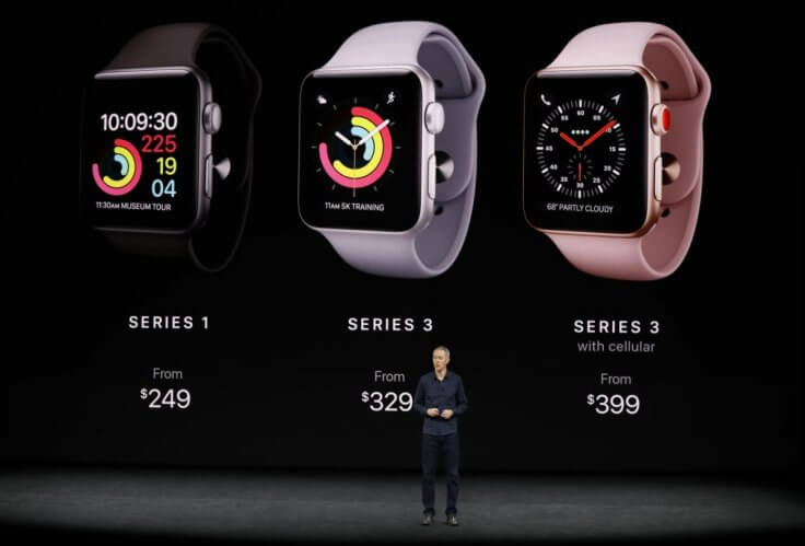 Презентация умных часов Apple Watch Series 3 - Тим Кук
