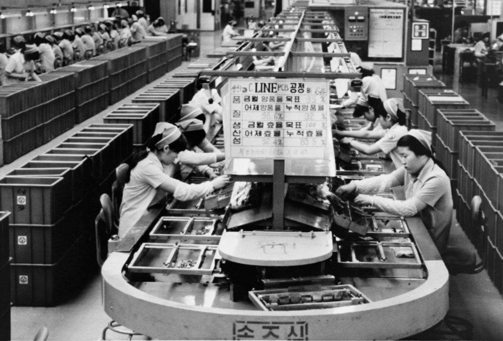 Сборочный конвейер в ранние годы