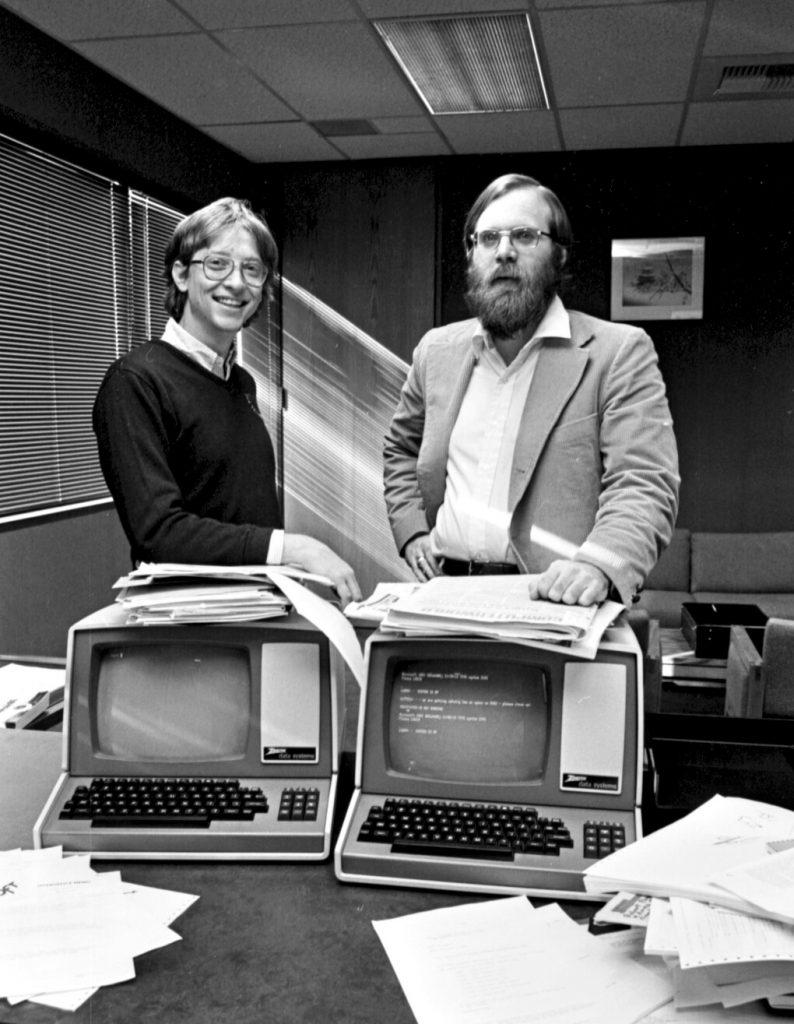 Билл Гейтс (слева) и Пол Аллен в 1979 году, когда они перевели главный офис Microsoft в Белвью.