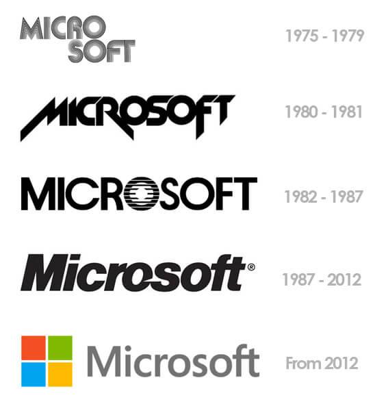 Как менялся логотип компании Microsoft