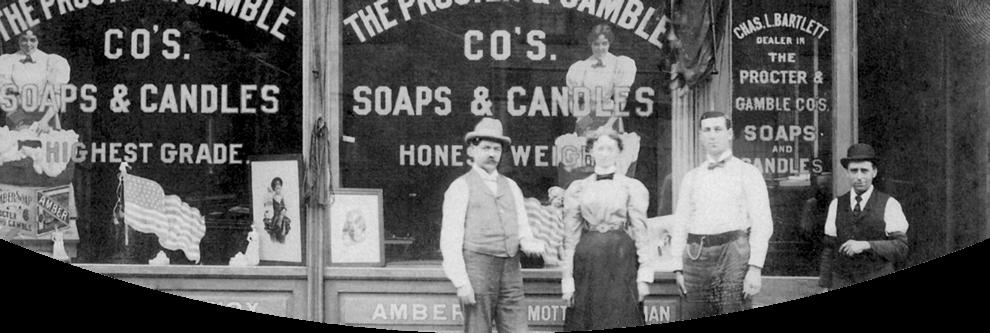 Один из первых магазинов компании Procter & Gamble в 1837 году