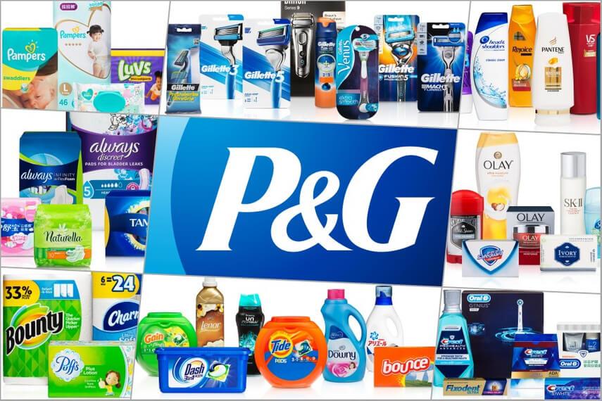 Линейка продуктов компании Procter & Gamble