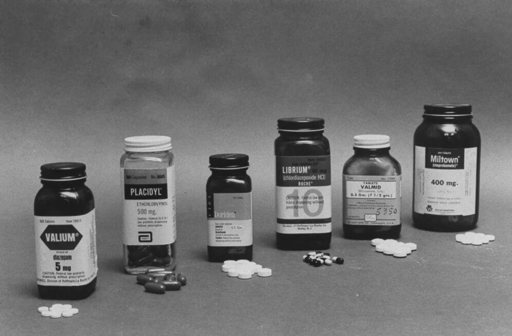 Лекарственные препараты выпущенной компанией Рош. Valium, Placidyl, Librium, Valmid, Miltown