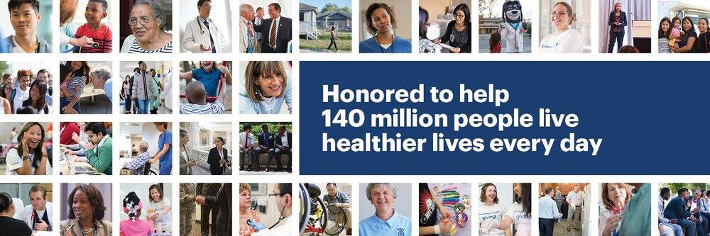 Честь помогать 140 миллионам жизни людей делаю их более здоровым каждый день.