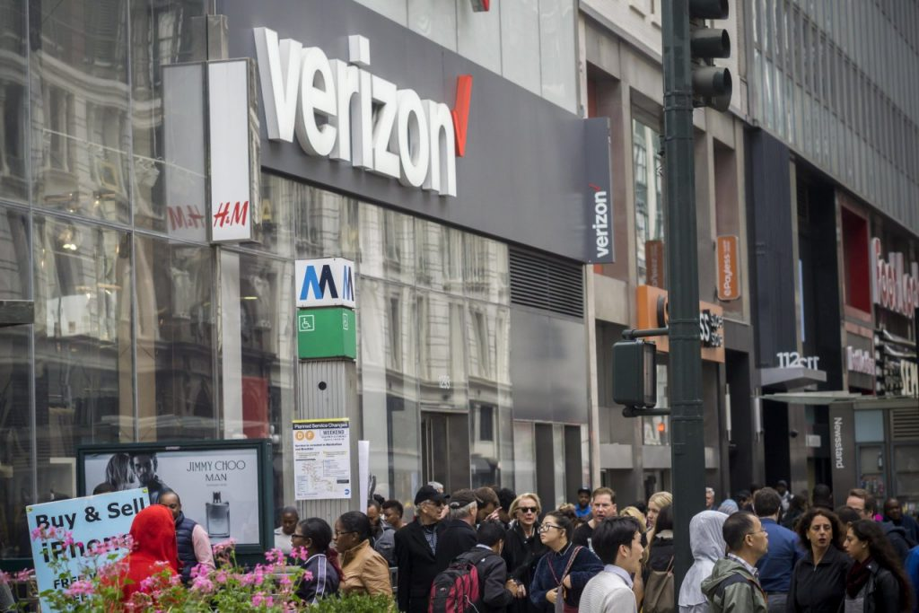 Магазин Verizon в Нью-Йорке