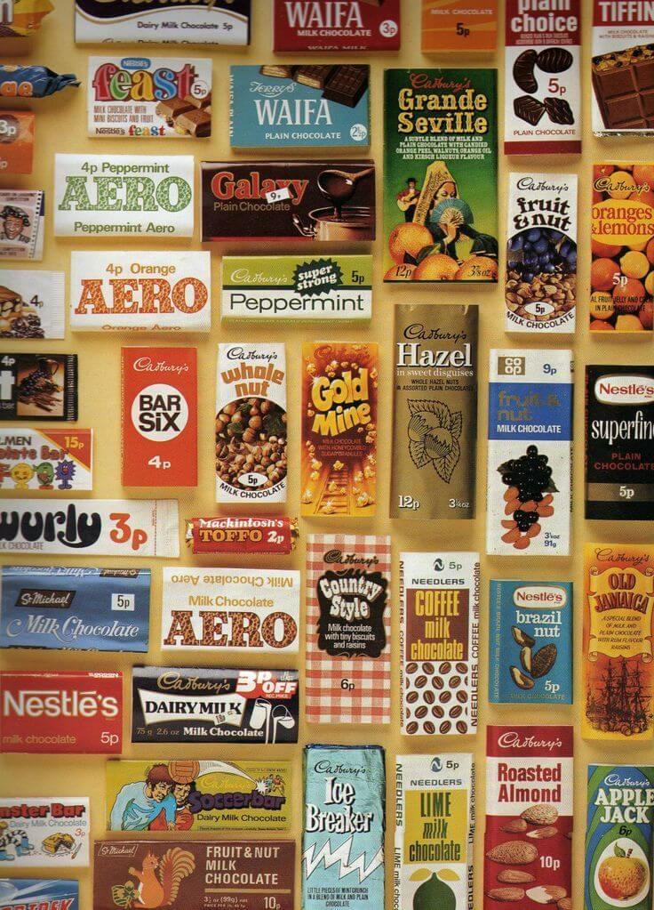 Винтажная (старая) продукция компании Nestlé