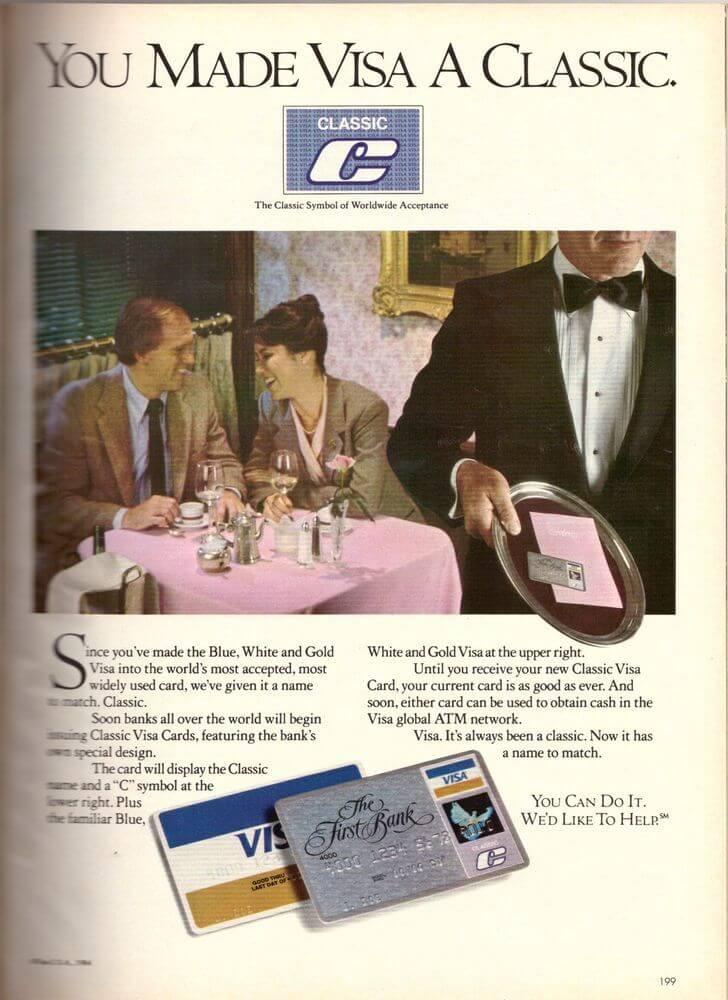 Рекламная брошюра первых карт Visa