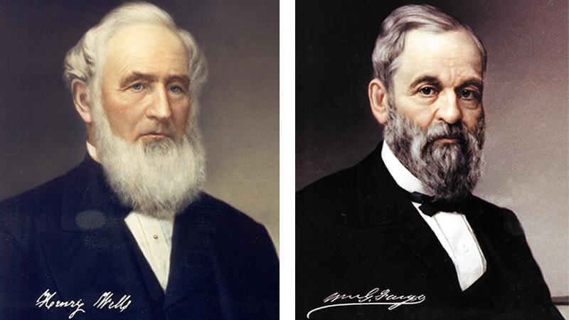 Основатели компании Wells Fargo. Генри Уэлс и Уильям Фарго