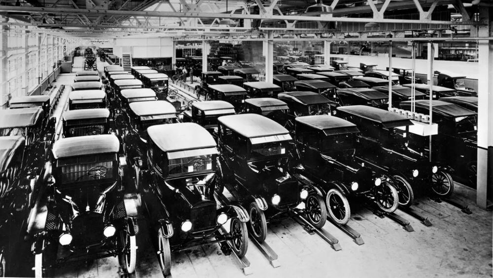 Массовое производство Форд модели Т