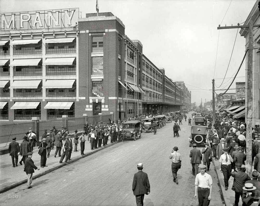 Завод Ford 1916 г