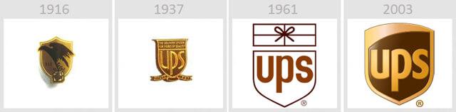 Изменение логотипа компании United Parcel Service (UPS)