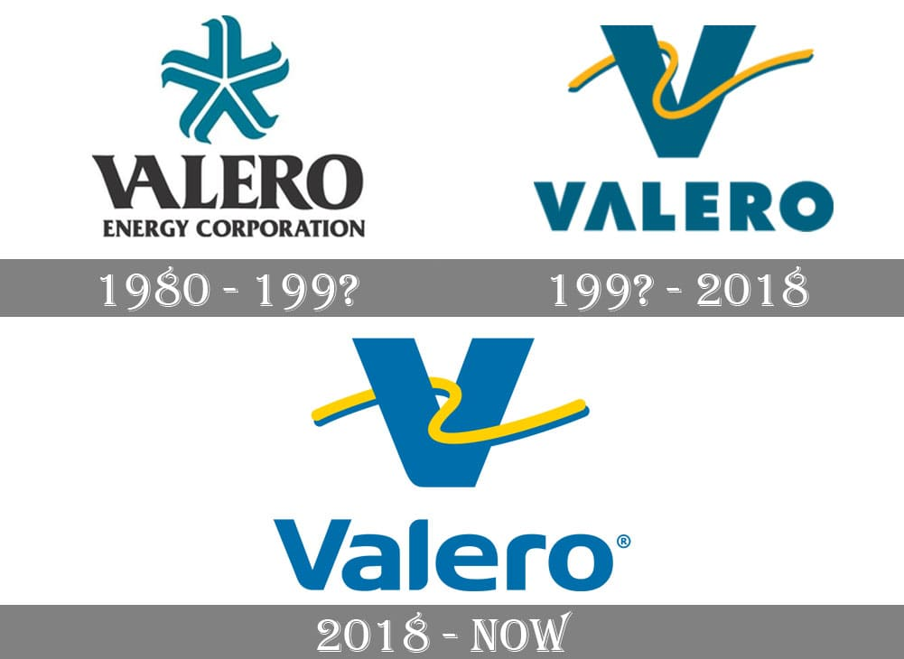 Как менялся логотип компании Valero Energy Corp