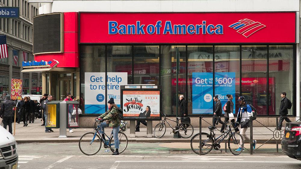 Отдел банка Bank of America