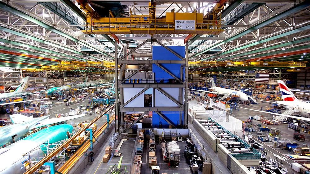 Boeing Everett Factory внутри.