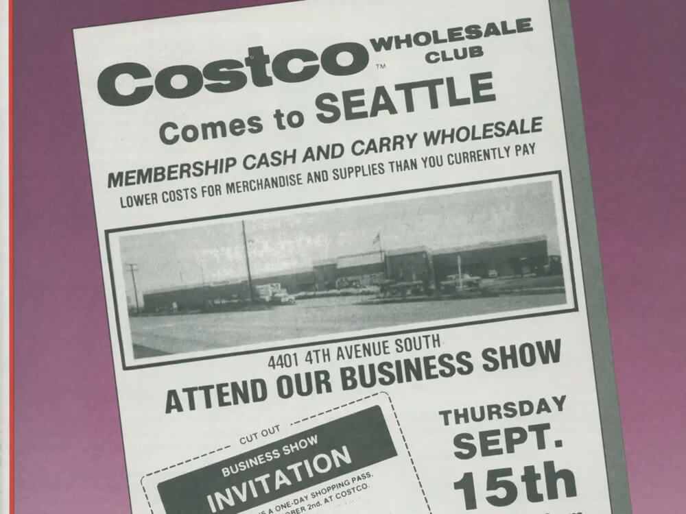 Листочка об информации членства клуба компании Costco Wholesale