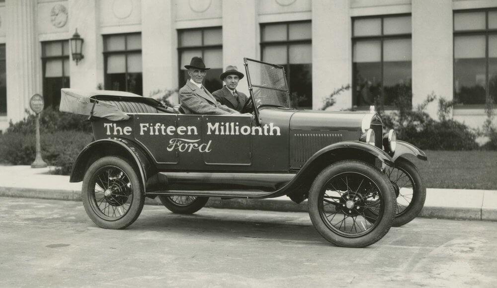 Генри Форд и 15 миллионный автомобиль Ford Model T