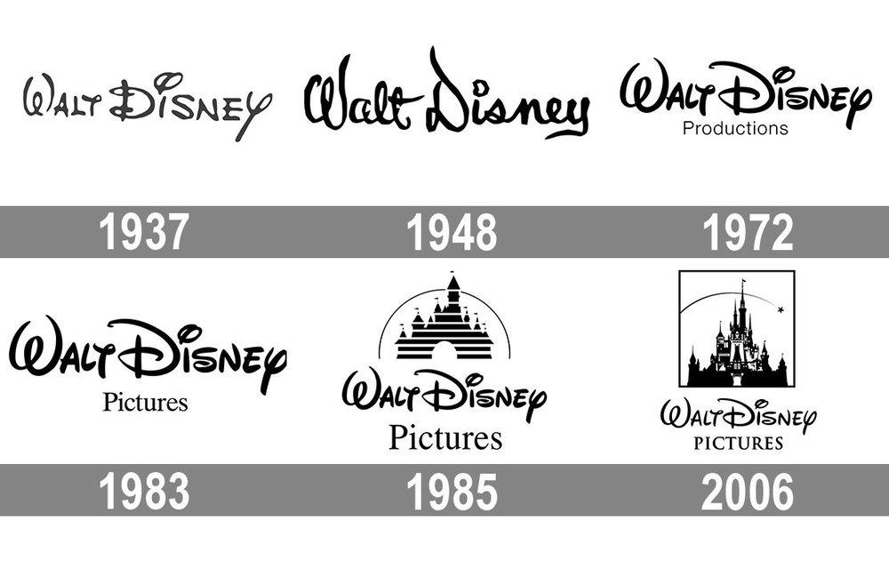 История логотипа компании Walt Disney